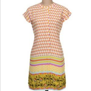 Global Desi Geometric with Bicycles Tunic Dress